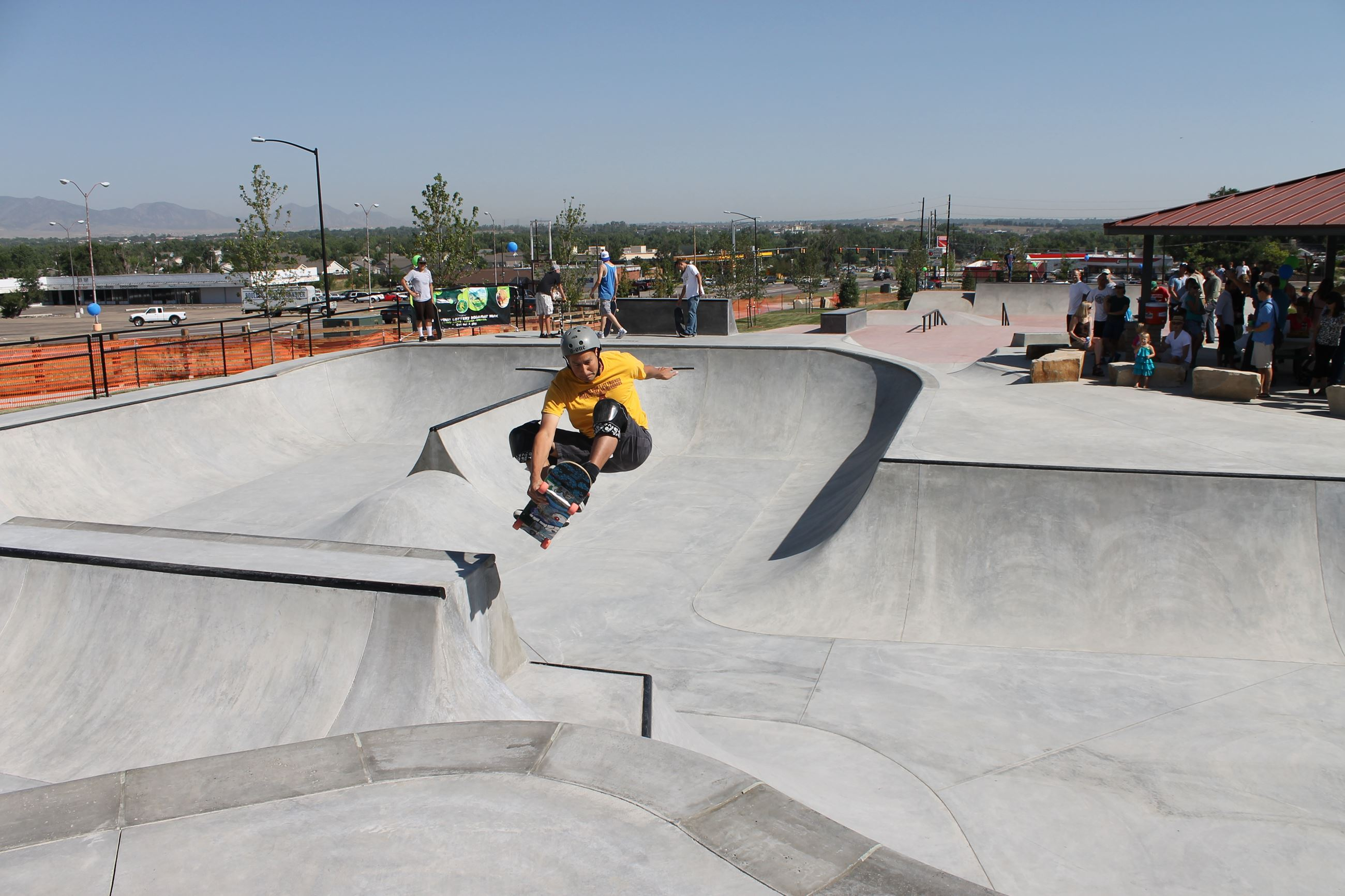 Boy in the skate park