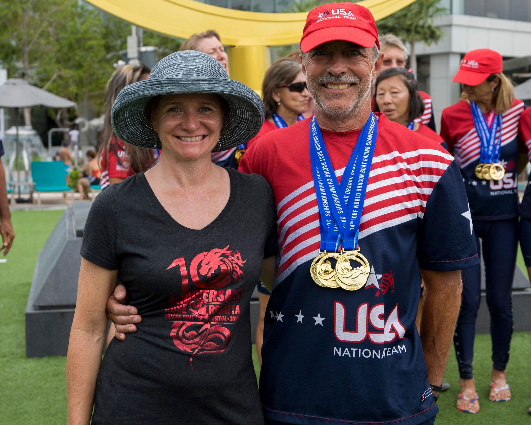 Michael Boyd and wife Deb after he won several Dragon Boat World Championship gold medals