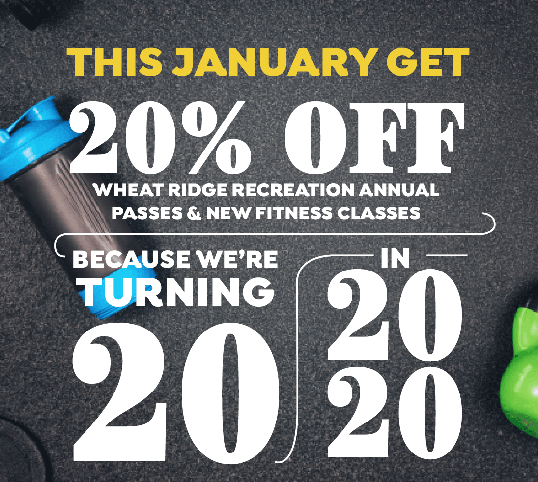This January get 20% Off new fitness classes and Rec Center annual passes