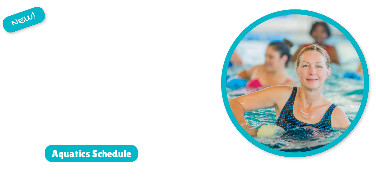 New Aqua Ex Classes - photo of woman taking an aqua exercise class in the pool
